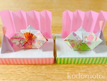 ひな人形の後ろに飾る屏風を折り紙で簡単に作ろう!