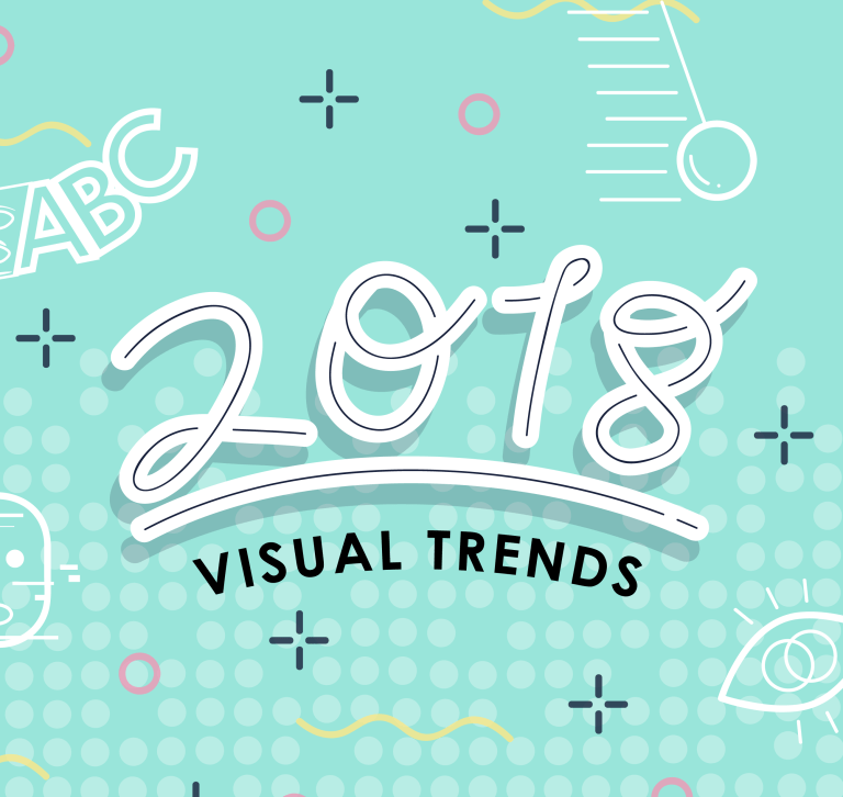 Title illustration for 2018 visual trends