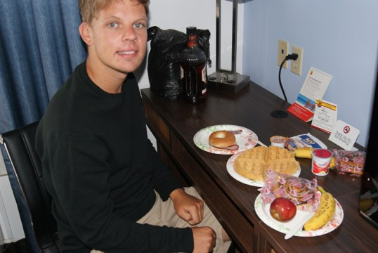 Ontbijt met waffles