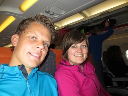 Samen in het vliegtuig