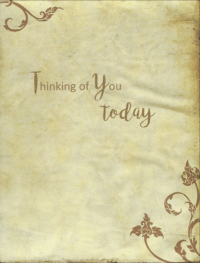 card inside message thinking of you today