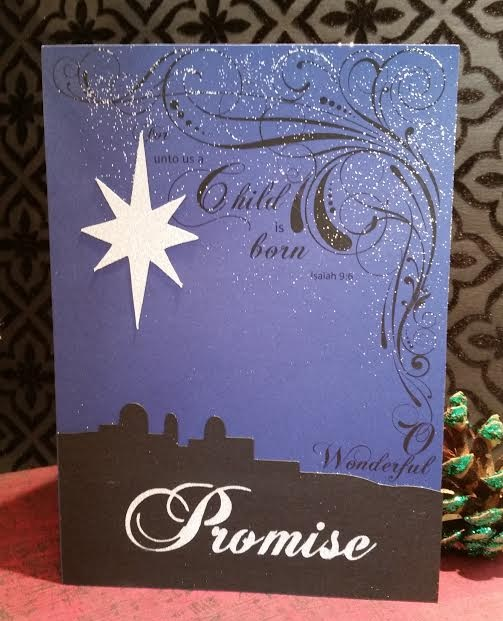 a child is born Christmas card Promise