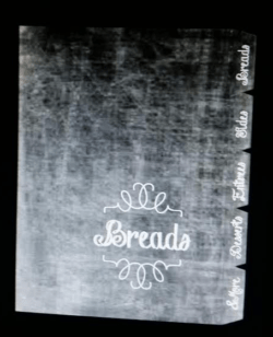 recipe book index pages chalkboard look