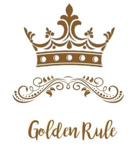 crown with swirls golden rule