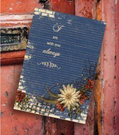 greeting card on old barn wood