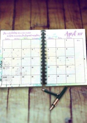 april planner image