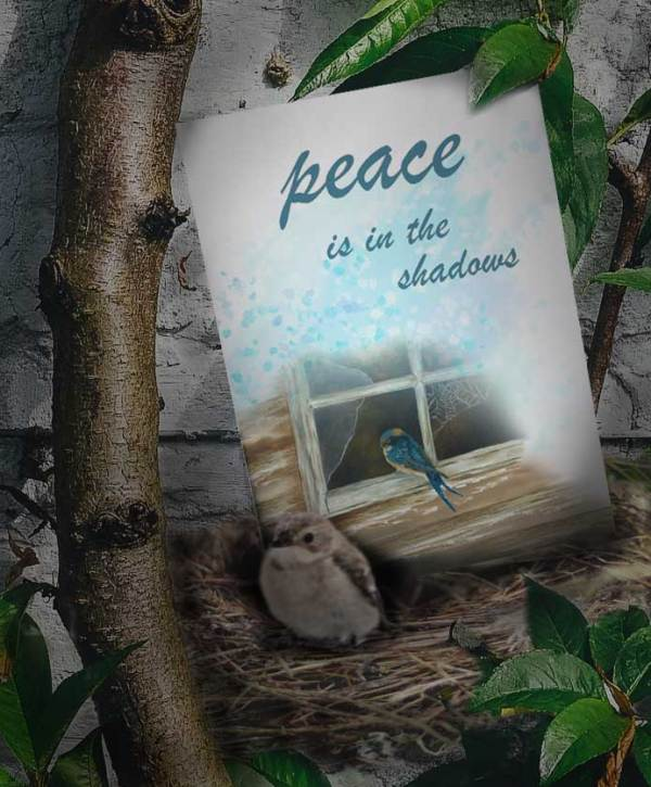 peace shadows love everywhere card image