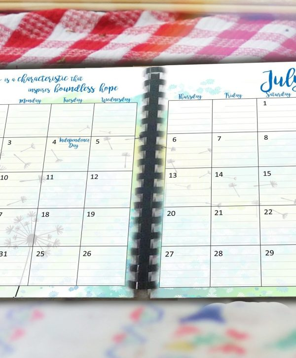 July monthly planner download