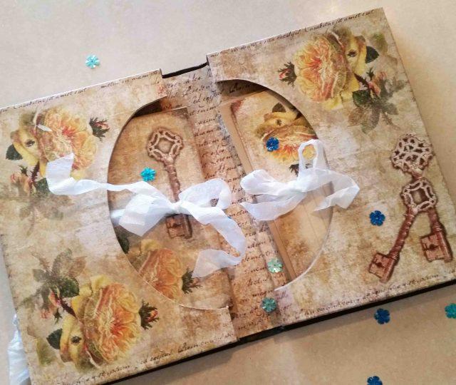 repurposed book box stationery set