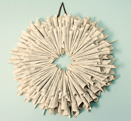 book page wreath Shabby Creek Cottage