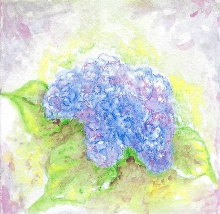 getting there painting hydrangeas