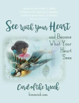 Sialealea Navajo girl, bluebird, dreamcatcher handmade card of the week kimenink