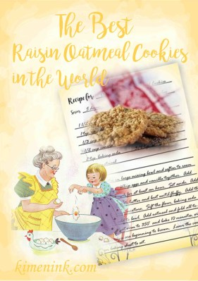 gold watercolor block easy gourmet recipe best raisin oatmeal cookies in the world feature image