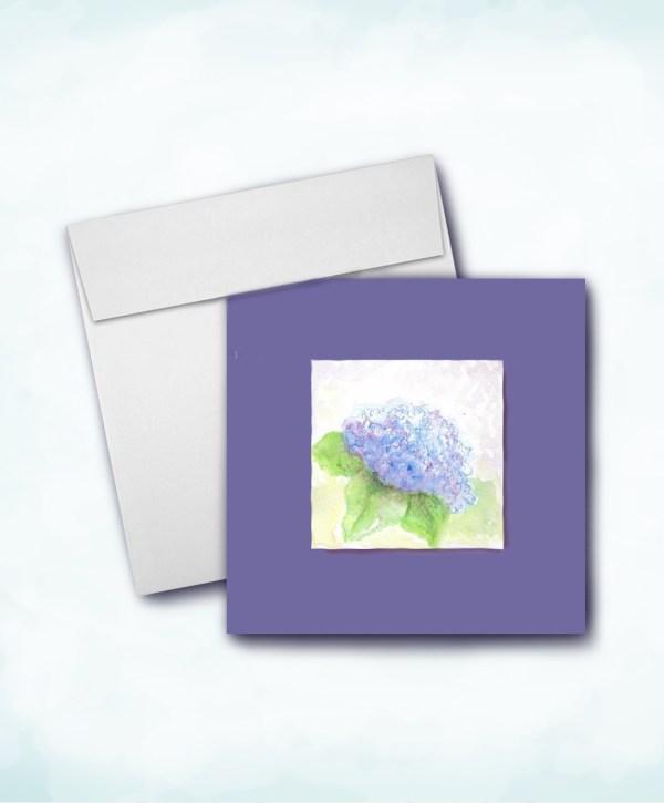 hydrangea mi-tientes paper mat square card and envelope image Etsy