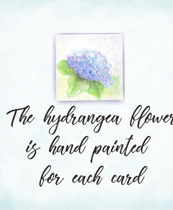 watercolor painted hydrangea mi-tientes paper mat square image