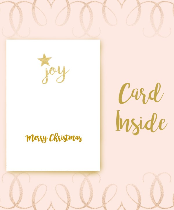 Joy to the World Calligraphy Christmas Card inside image