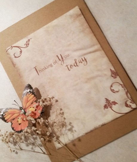 Watercolor Are They Real Fall Leaves Card inside