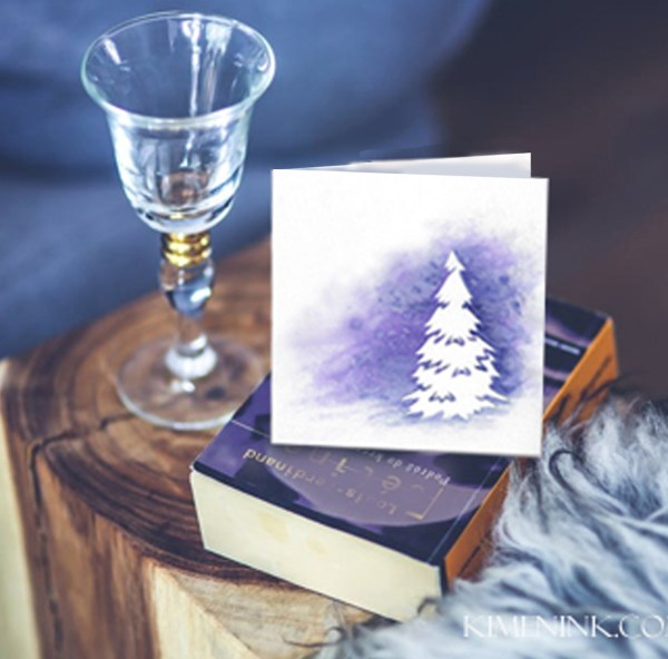 Aurora Lights card on book image Etsy