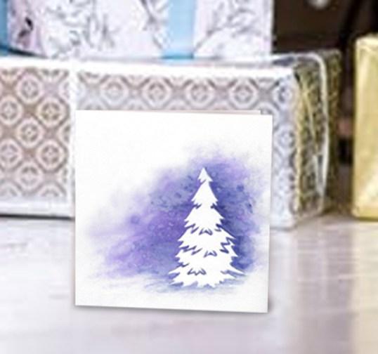 Aurora-Lights-purple-shimmer-watercolor-with-pine-silhouette-card-photo-kimenink.com