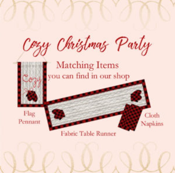 Cozy Christmas Party Collection matching decor items image