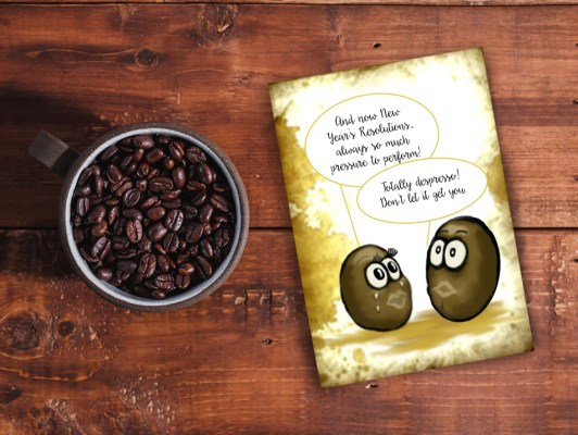New-Year-Resolutions Goals-Coffee-Card-on-table-with-coffee-beans