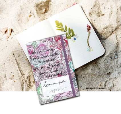 Handmade With Love Just For You scrapbook page on Unsplash.com photo