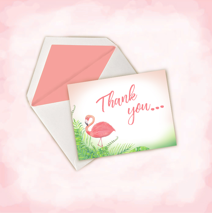 Finest Pink Flamingo Thank You Notes ~ Kim & Ink RD89