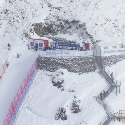 """Free Fall"" To The Men's Downhill Course In St. Moritz"
