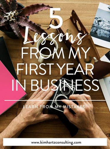 5 lessons from my first year in business