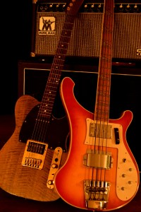 Bass and guitar