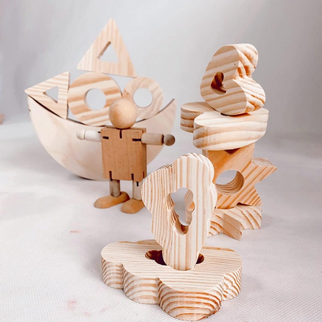 juguete madera equilibrio montessori