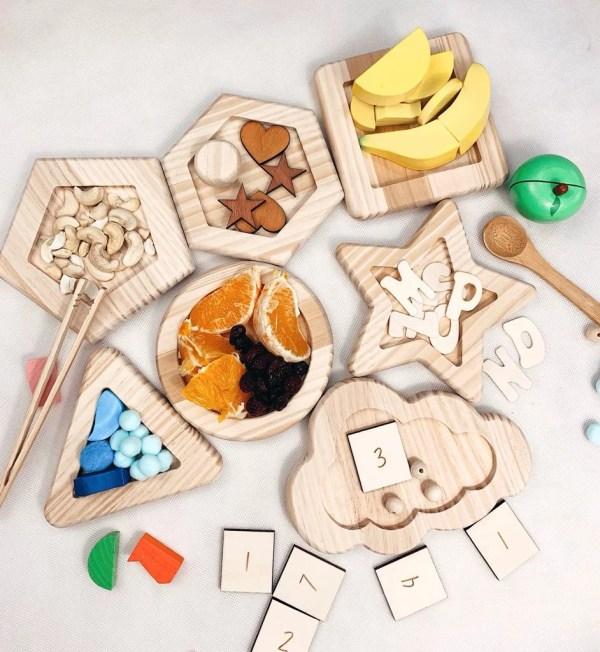bandejas montessori organizacion