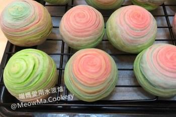 中秋月餅   彩虹酥做法之千層 芋頭酥 ~ 斜捲法,免鬆弛~年節送禮就送繽紛的千層彩紅酥手工禮盒
