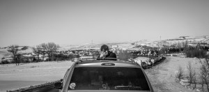 Traffic entering camp Oceti Sakowin