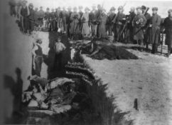 Mass grave at the site of the Wounded Knee massacre.