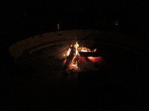 Of course we had a campfire and s'mores!