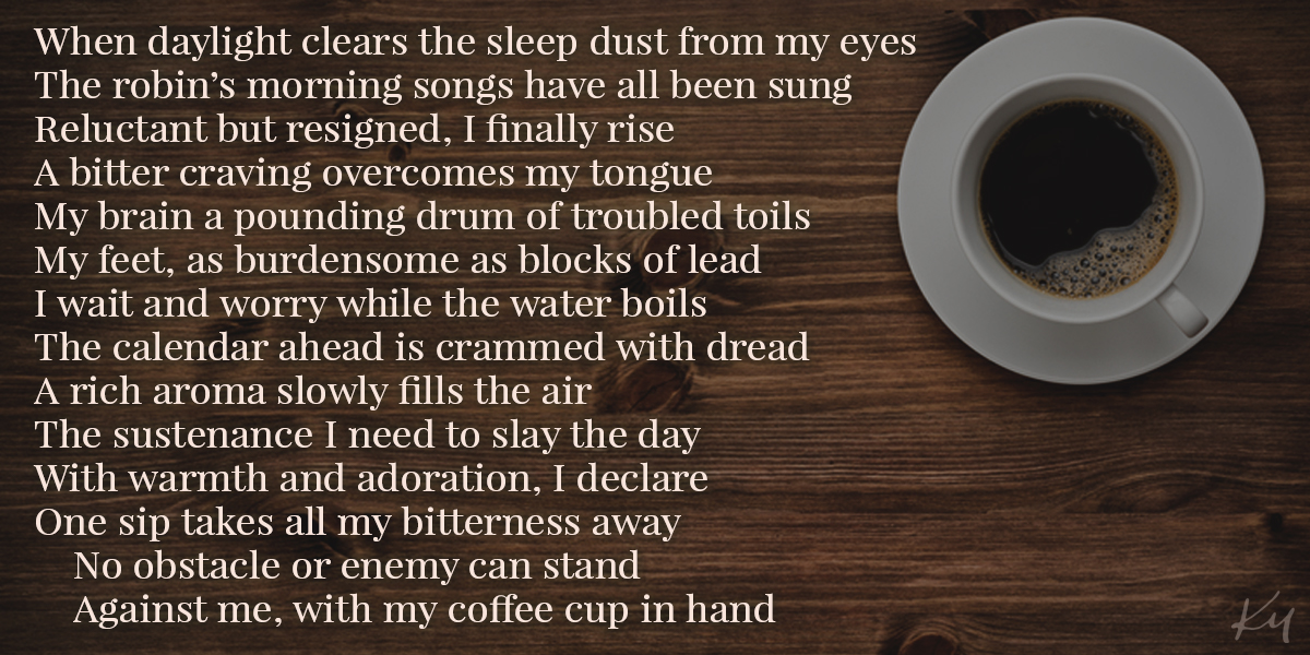 Coffee-inspired sonnet