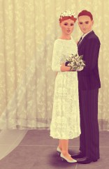 Michael and Nancy 1964. Susie is in love with her mother's dress.