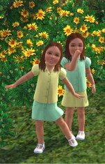 Xandra and Lexie Williams (now Lexie Brown) as toddlers in the 70's