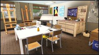 The Art room where Alexis Hall teaches.