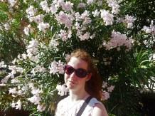 Lynn between the flowers