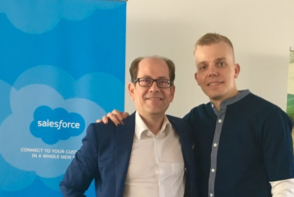Kimmo Kanerva & Elastinen in CRM - Salesforce event