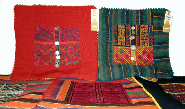 Cushion Cover Mix Set Red & Emerald