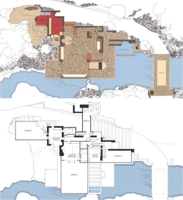 Frank Lloyd Wright La Casa de la Cascada  Kimobel