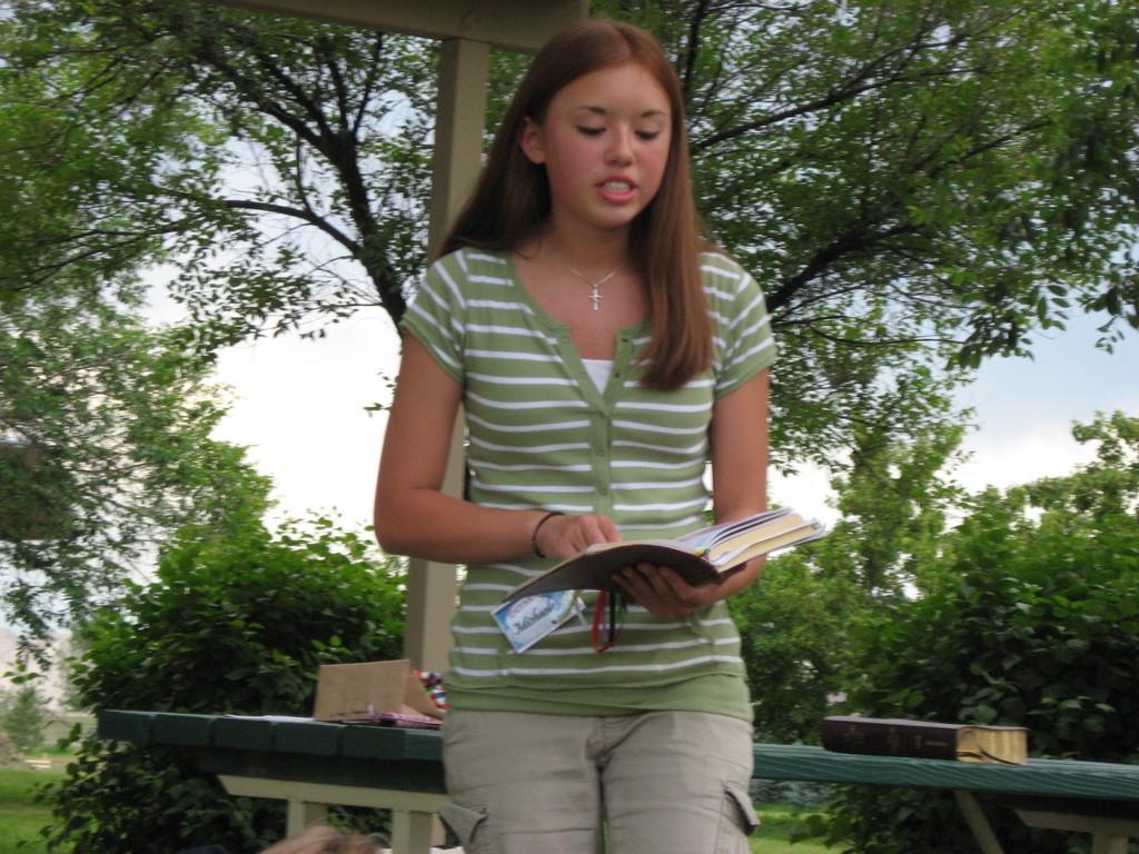 Michaela Teaching A Bible Lesson