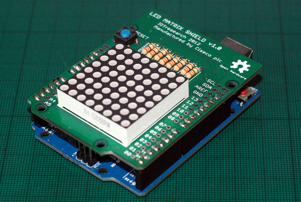 LED matrix shield Ciseco