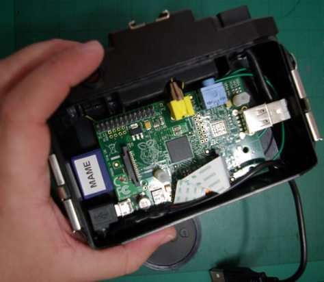 Pi camera case with Pi fitted