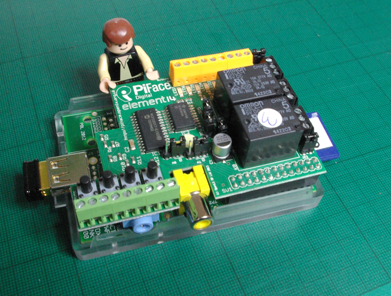 Pi-Face expansion board for Raspberry Pi