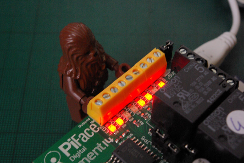 Pi-face with outputs on
