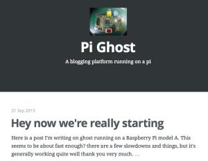 Pi Ghost setup